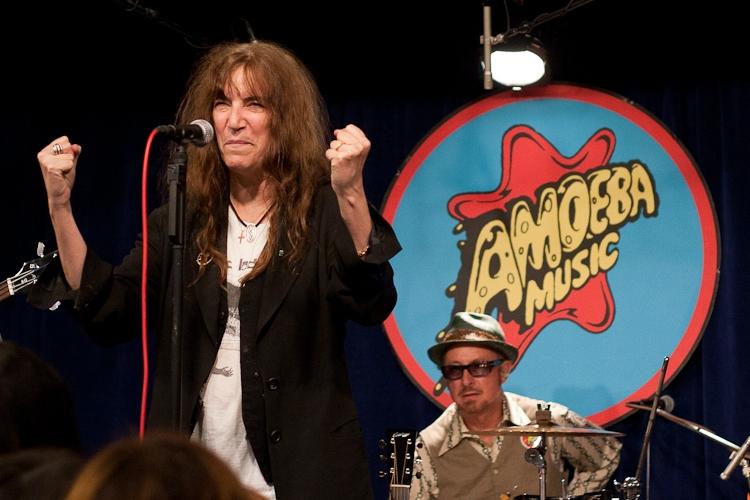 Patti Smith performing