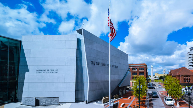 The National World War II Museum in New Orleans. Photo via Shutterstock.