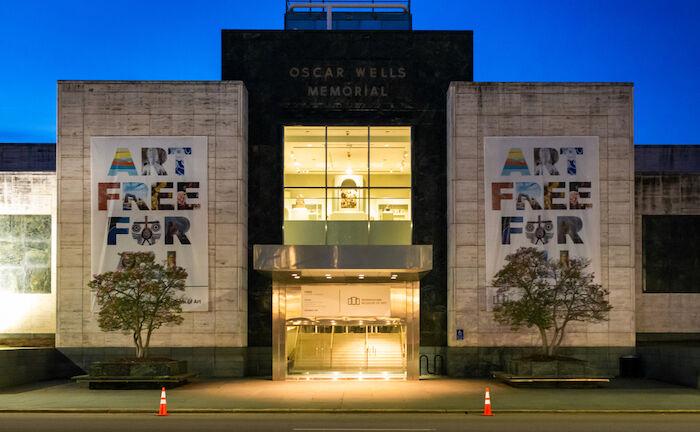 Birmingham Museum of Art at night. March 7, 2020. Photo via Shutterstock.