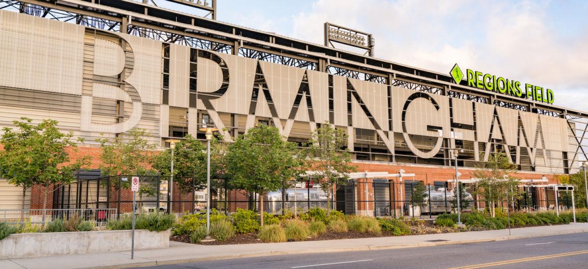 Regions Field in Birmingham, Alabama. Photo via Shutterstock.