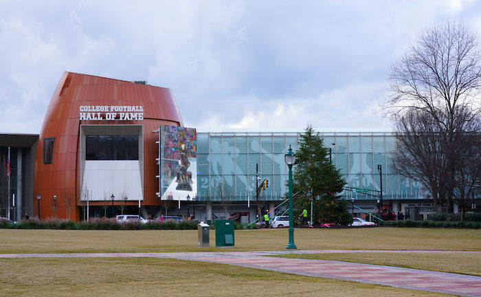 College Football Hall of Fame in Atlanta. Photo via Shutterstock.