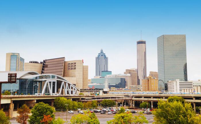 Downtown Atlanta. Photo via Shutterstock.