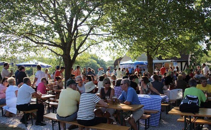 Estabrook Beer Garden in Milwaukee