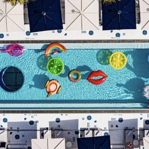 The pool at Moxy South Beach, Miami Beach, Fla.
