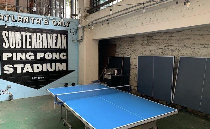 Switchyards Ping Pong Club in Atlanta.