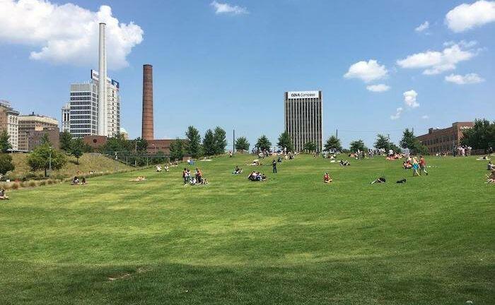 Railroad Park in Birmingham, Alabama.