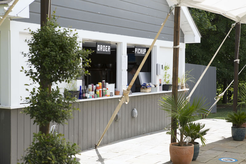 How Hotels Are Morphing Outdoor Spaces into New Guest Experiences. Hasbrouck House snack shack