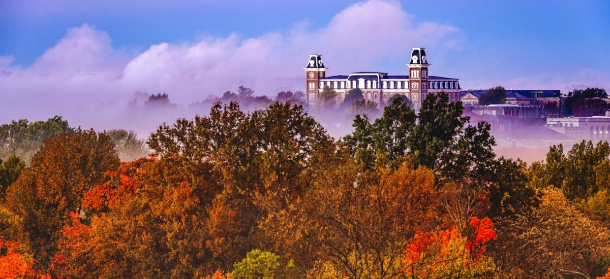 Fayetteville, Arkansas fall foliage. Photo credit: Shutterstock.