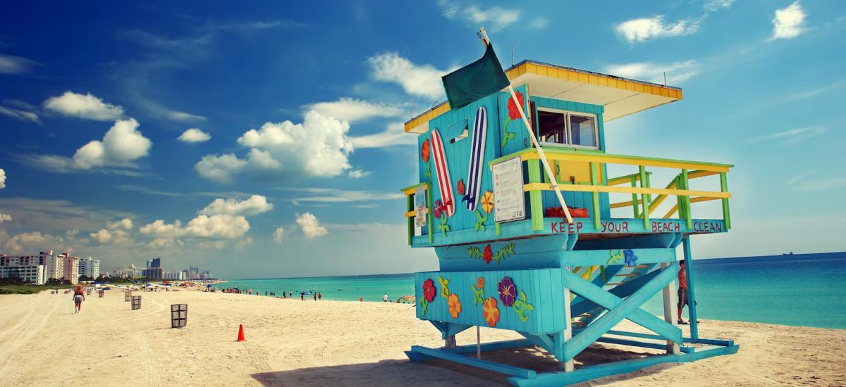 South Beach in Miami, Florida.