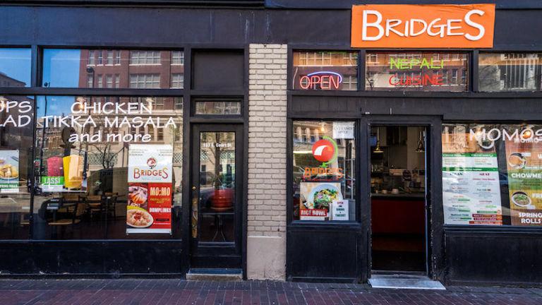 Bridges Nepali Cuisine in Cincinnati, Ohio.