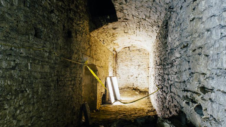 Exploring the caves under Over-the-Rhine in Cincinnati, Ohio.