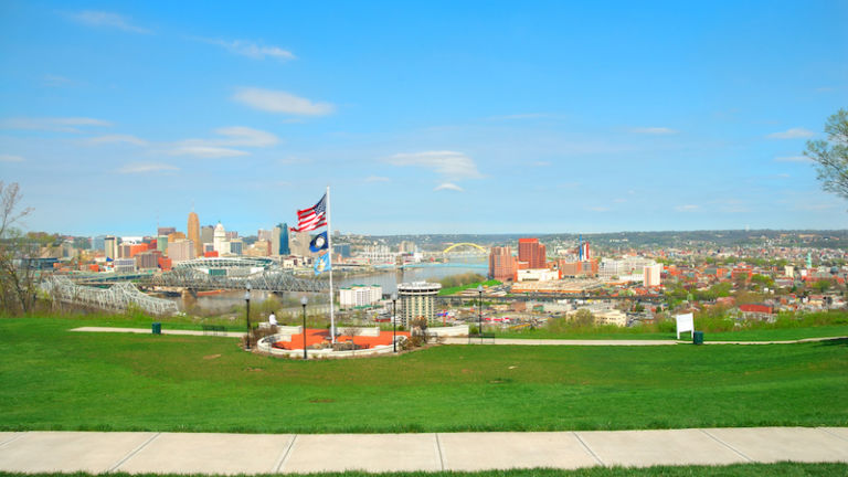 Devou Park in Cincinnati, Ohio.
