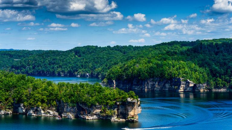 Summersville Lake, Nicholas County, West Virginia. Photo via Shutterstock.