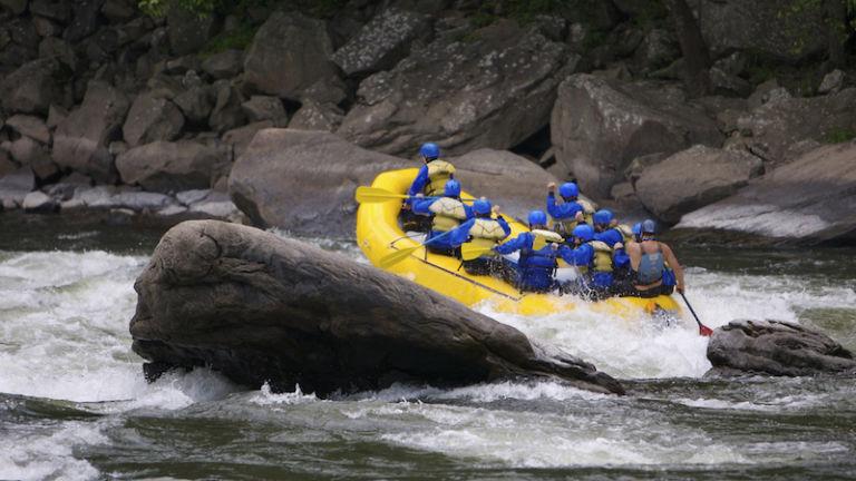 Whitewater Rafting in West Virginia. Photo via Shutterstock.
