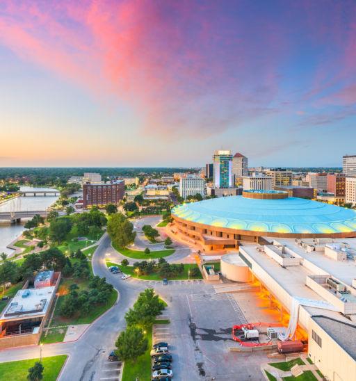 Wichita, Kansas. Photo via Shutterstock.