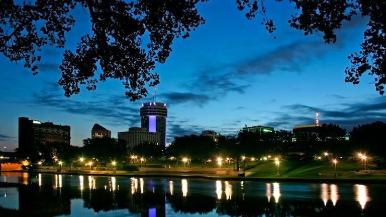 Downtown Wichita, Kansas. Photo via Shutterstock.