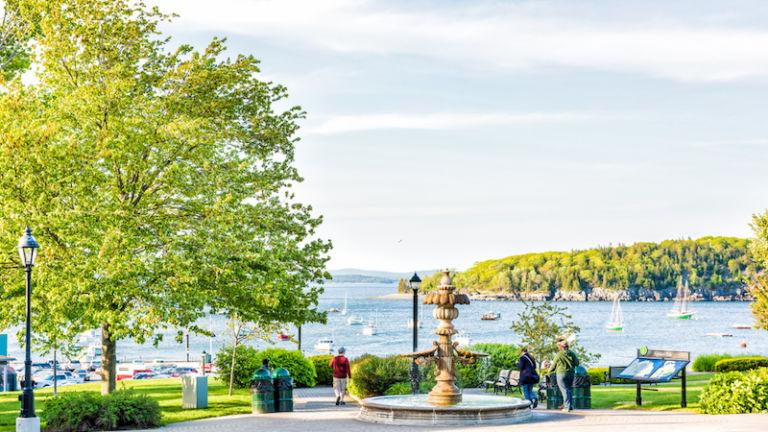 Agamont Park in Bar Harbor, Maine.