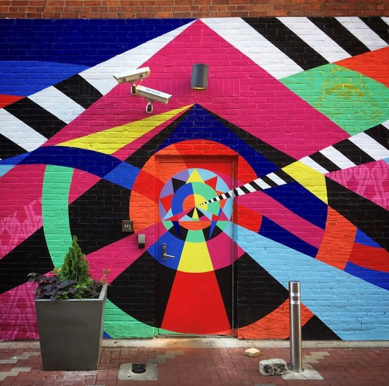 21c Cincinnati, mural in the alley.