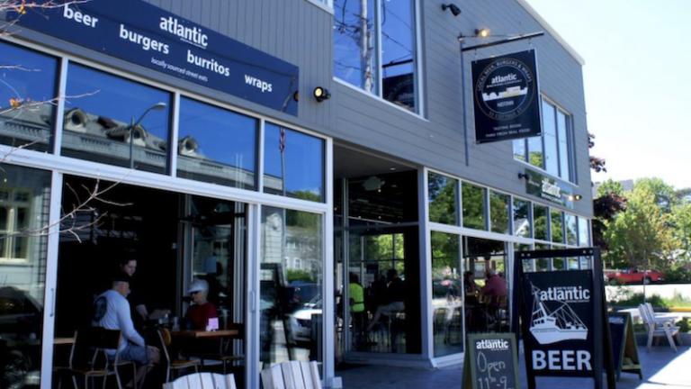 Atlantic Brewing in Bar Harbor, Maine.