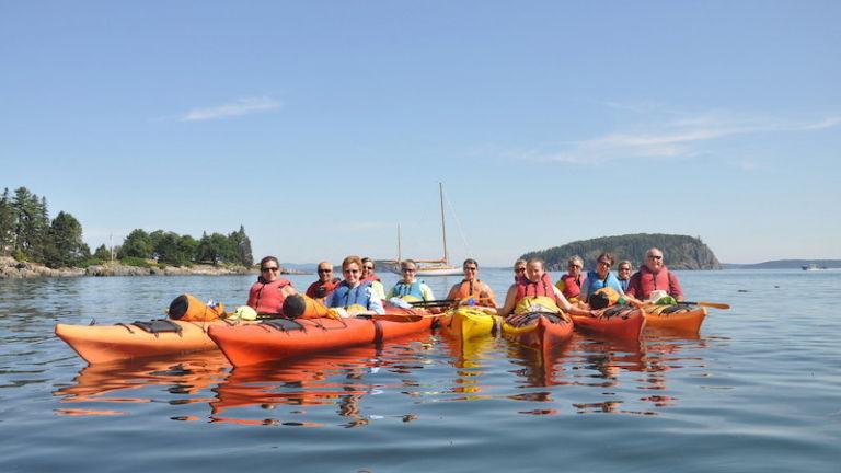 Coastal Kayaking Tours in Bar Harbor, Maine.