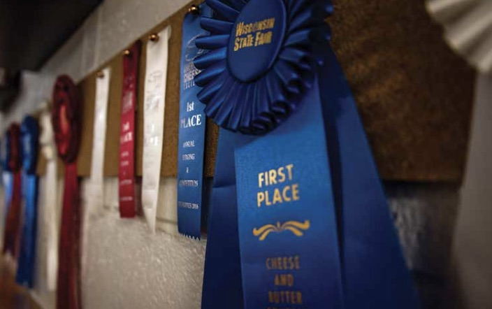 Wisconsin State Fair ribbons. Photo by Jacqueline Kehoe.