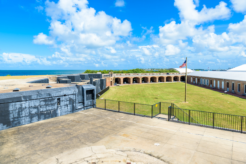 Fort Zachary Taylor Park, Key West. State Park in Florida. Photo by Shutterstock.