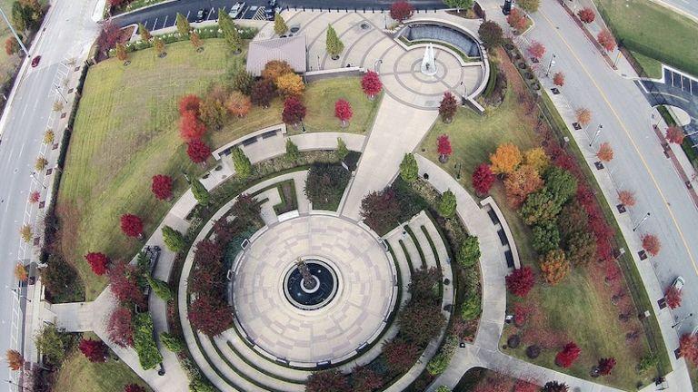 John Hope Franklin Reconciliation Park in Tulsa, Oklahoma.