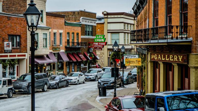 Downtown Galena, Illinois.