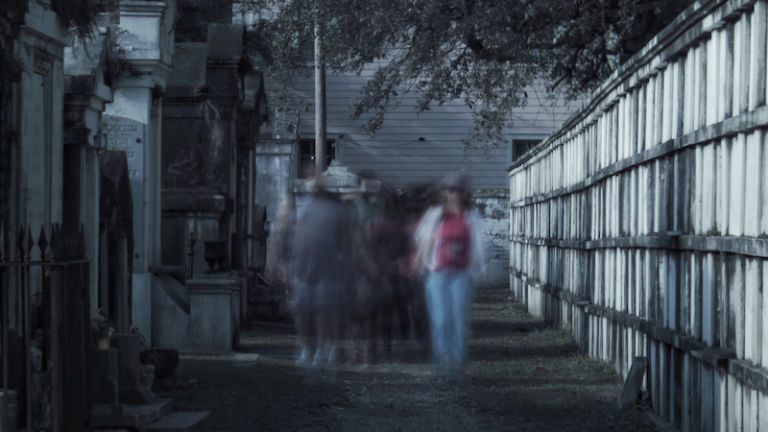 A ghost tour. Photo via Shutterstock.