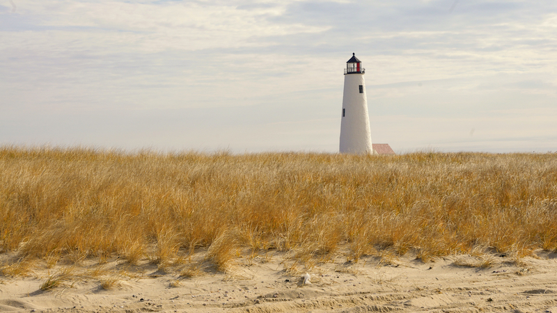 Great Point Lighthouse in the fall, Nantucket, Massachusetts. Photo by Shutterstock.