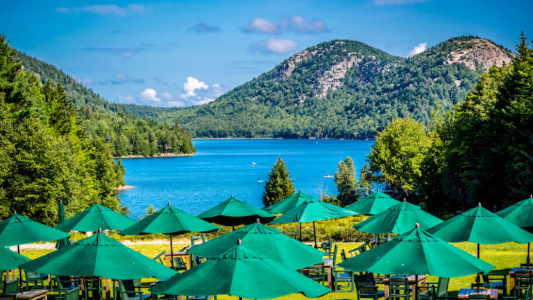 Acadia National Park, Maine - The Jordan Pond House Restaurant. Photo via Shutterstock.