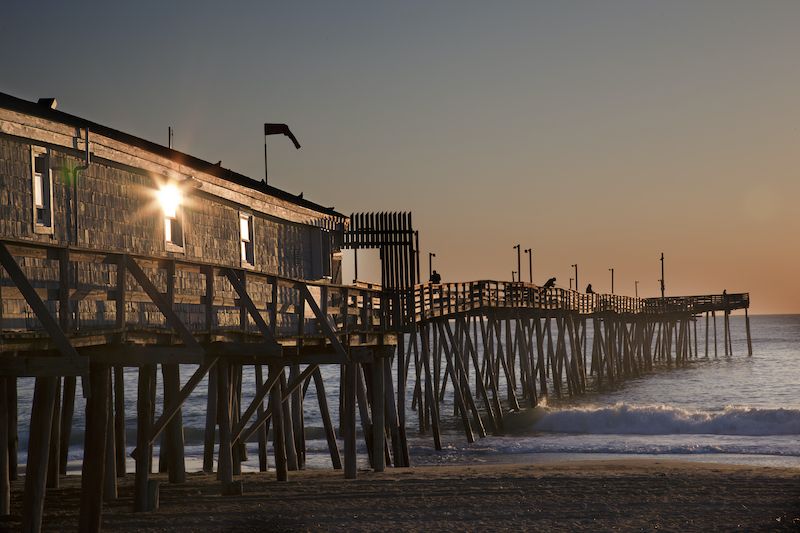 Avalon fishing Pier in Kitty Hawk on the Outer Banks. Photo by Shutterstock.