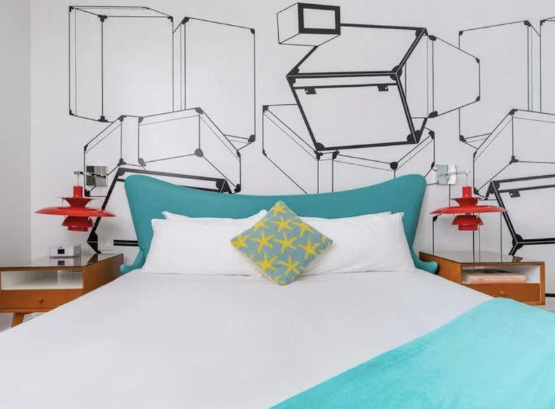 Galaxie King room at the Vagabond Hotel in Miami.