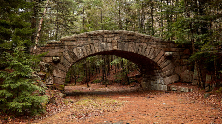 Bridge for Carriage Road in Acadia Nation Park. Photo via Shutterstock.