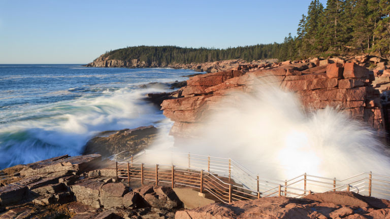 Acadia National Park, Thunder Hole in Maine. Photo via Shutterstock.