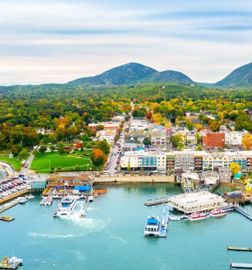 Bar Harbor in Maine. Photo via Shutterstock.