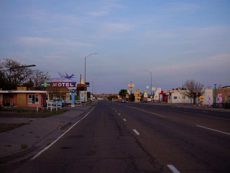Blue Swallow Motel on Route 66. Photo by Tag Christof.