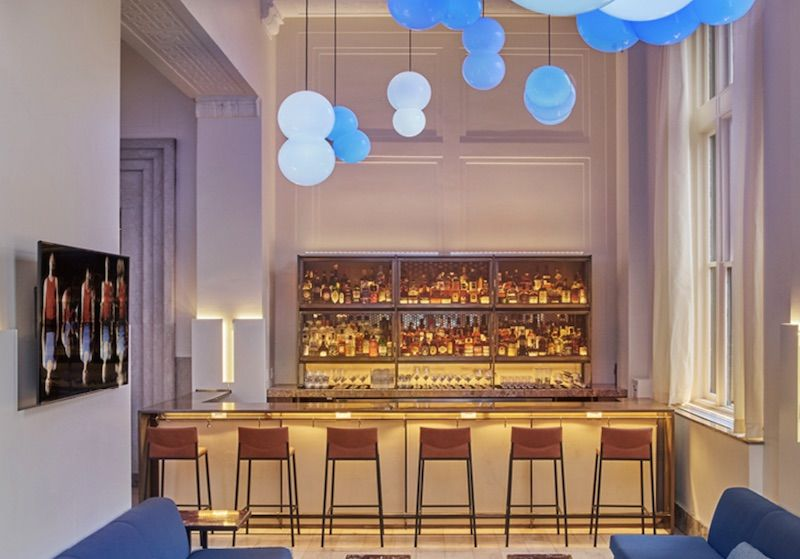 Bar at the 21C Museum Hotel Lexington