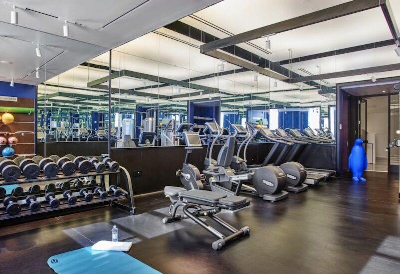 Gym at the 21C Museum Hotel Lexington
