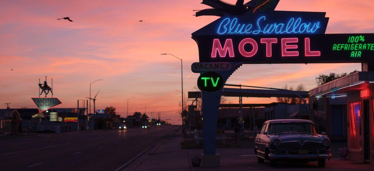 Blue Swallow Motel in Tucumcari, New Mexico. Photo by Tag Christof.