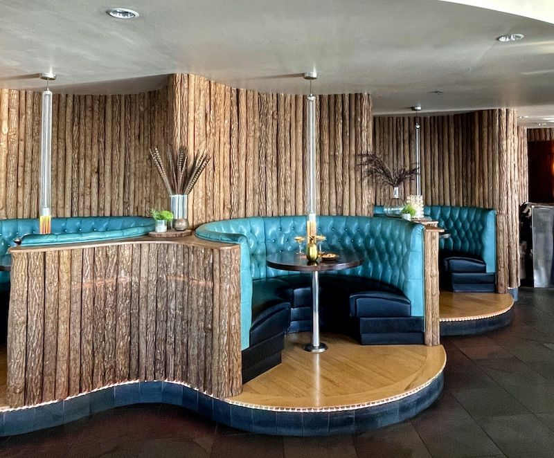 Booth in The Edgewater bar in Seattle. Photo via the hotel.