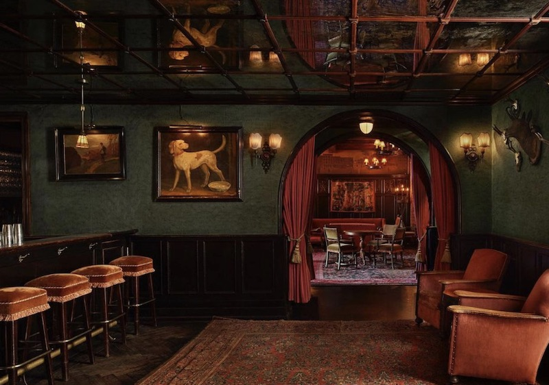 Inside the Bowery Hotel.