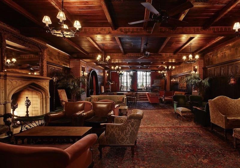 The Bowery Hotel lobby.