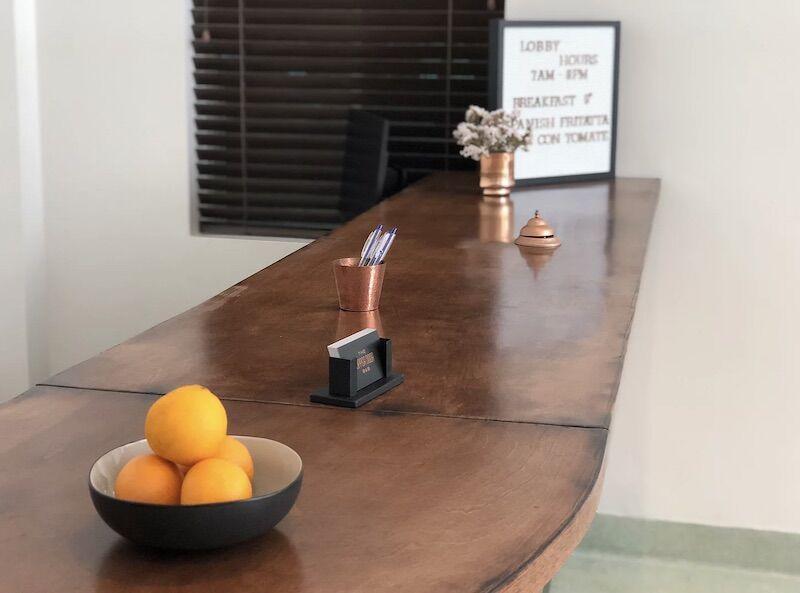 Front desk at the Copper Door B&B.