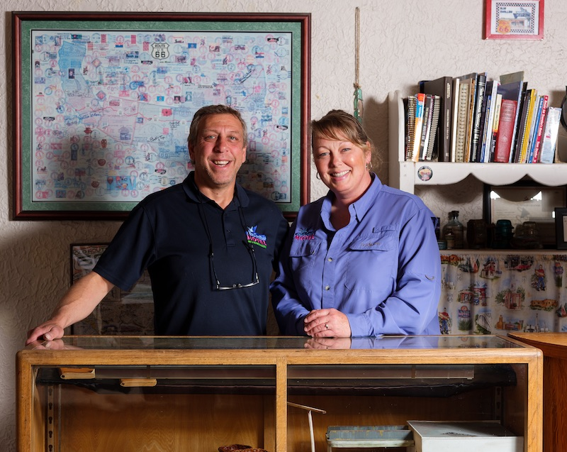 Rob and Dawn Federico, owners of the motel since 2020. Photo by Tag Christof.