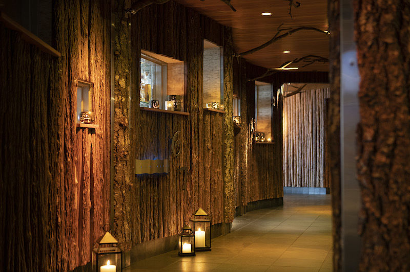 A hallway at the Edgewater hotel in Seattle. Photo via the hotel.