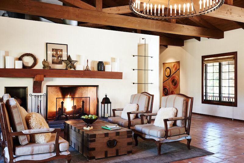 Lobby lounge at the Estancia La Jolla near San Diego, Calif.