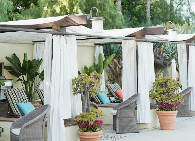 Cabanas at the Estancia La Jolla hotel near San Diego, Calif.