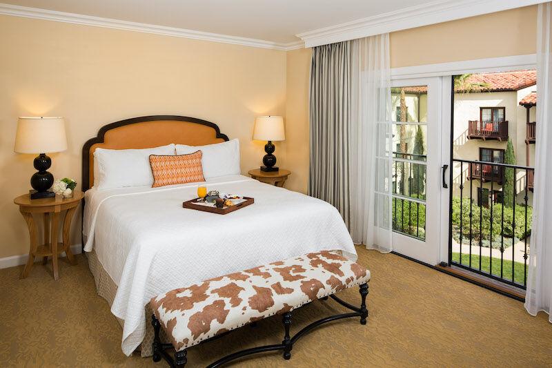 One bedroom estate suite at Estancia La Jolla near San Diego, Calif.