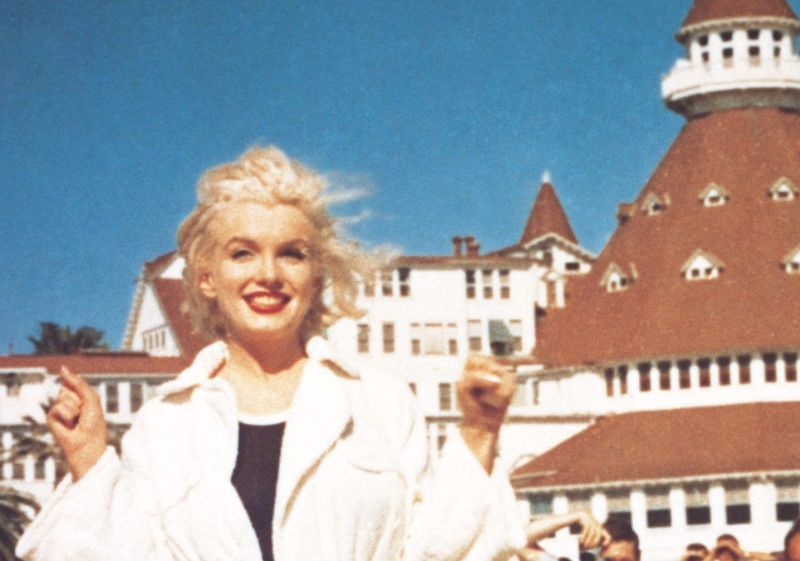 Marilyn Monroe at Hotel Del Coronado. Monroe was one of the many celebs or politicians to stay at the hotel in its history.